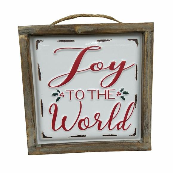 Other - Joy to the World Enamel Wood Frame Sign